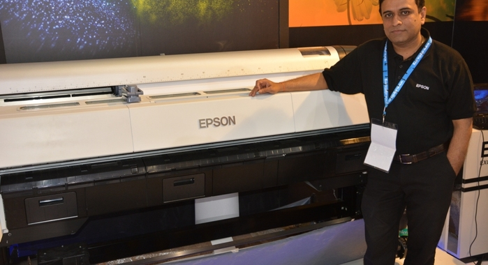 Vasudevan with the global launch of Epson SureColor at CEIF 2016