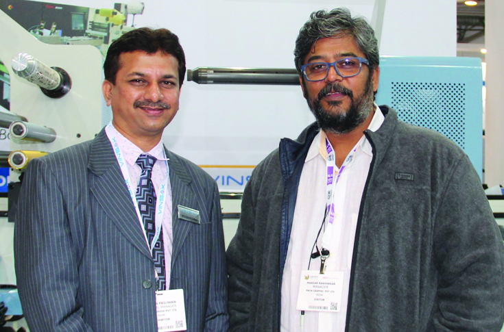 Mohan Pailwan, general manager, at Vinsak with Nandu Rangnekar, director at Prakruti Graphics