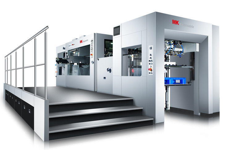 Easymatrix 106 die-cutting machine with stripping facility