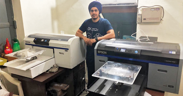 "Singh: ""We have printed 72 t-shirts in 150 minutes"""
