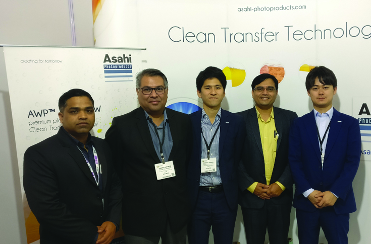 The Asahi Photoproducts and TechNova Imaging Systems teams at Labelexpo