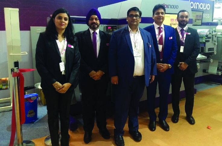 (l-r) Surbhi Mittal, Gurvinder Singh, Jimit Mittal, TP Jain and Akash Kumar of Monotech Systems