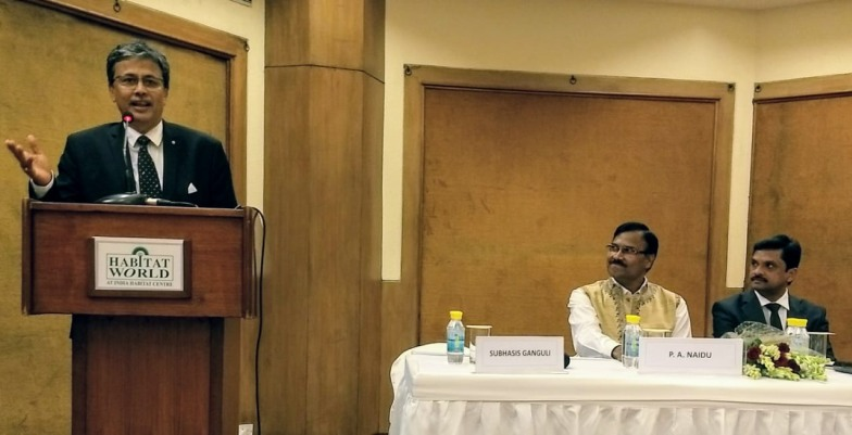 (l-r) Subhasis Ganguli, director, MAP Systems; Group Captain PA Naidu, additional director general, Prasad Bharati and Prasad Rao, CMD, MAP Systems during the event
