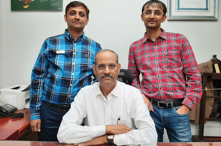 (l-r)  Himanshu Pandey, MN Pandey (seated) and Krishan Pandey