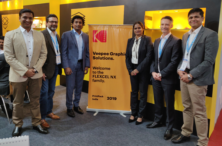 The Veepee Graphic Solutions team with the Kodak team